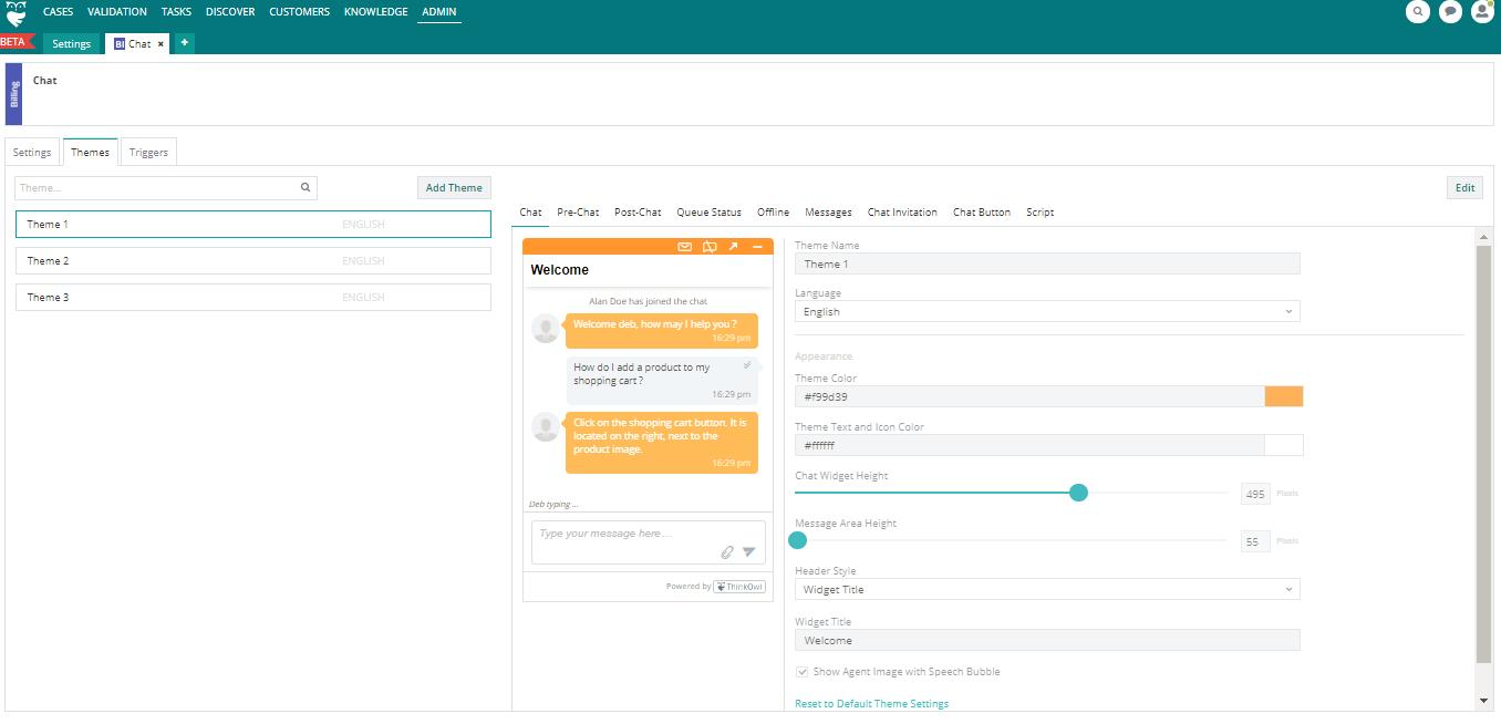 ThinkOwl chat customization