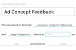 Remesh screenshot: Users can create and schedule live conversation sessions