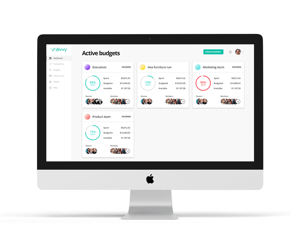 Divvy  screenshot: Create budgets for teams, projects, or events and set a spend limit