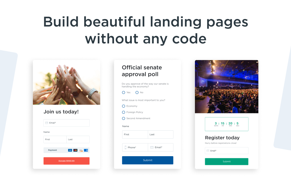 Build beautiful landing pages without any code with Action Pages