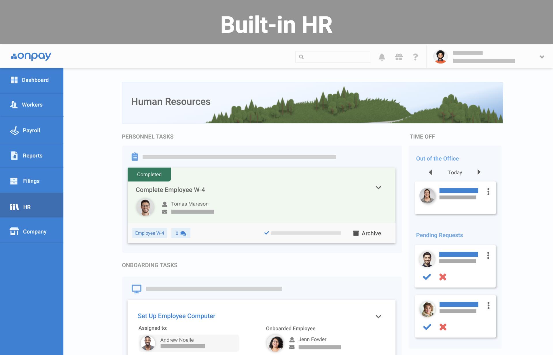 A full set of HR tools