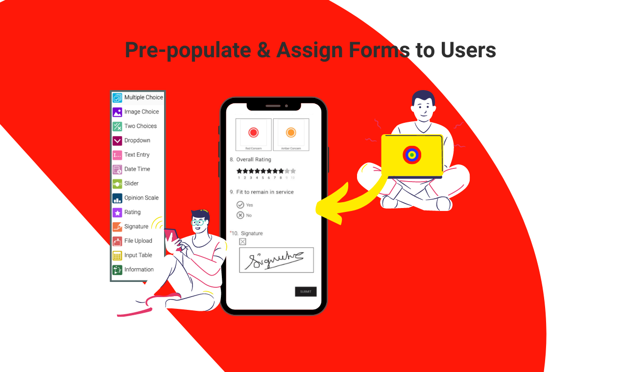 Pre-populate and Assign Forms to Users