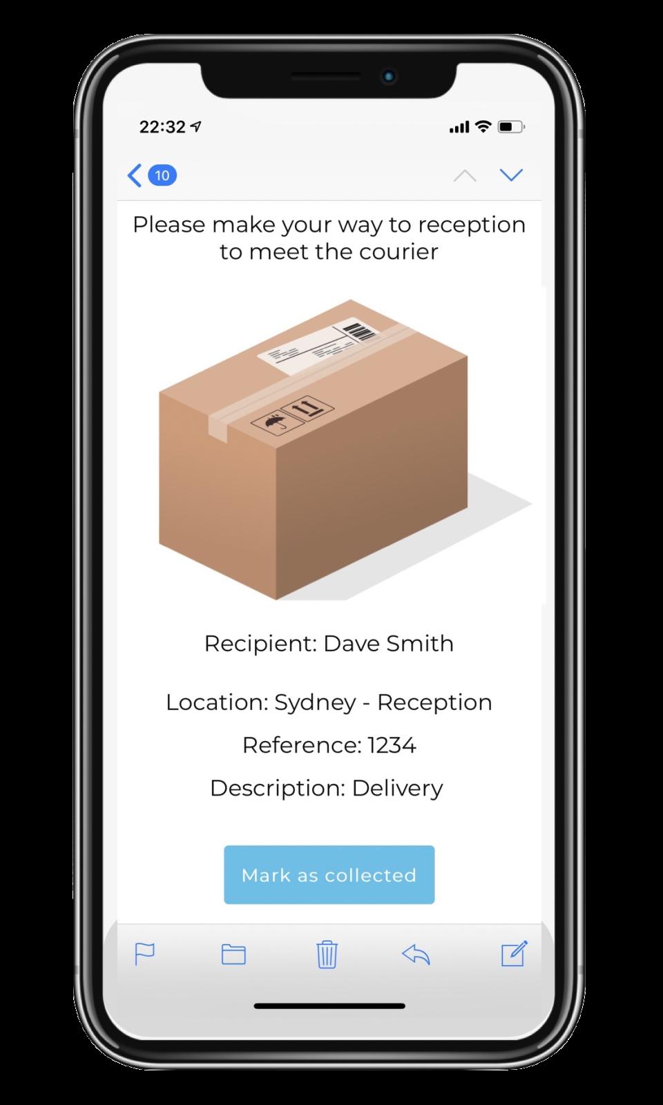 VisitUs Deliveries iOS application