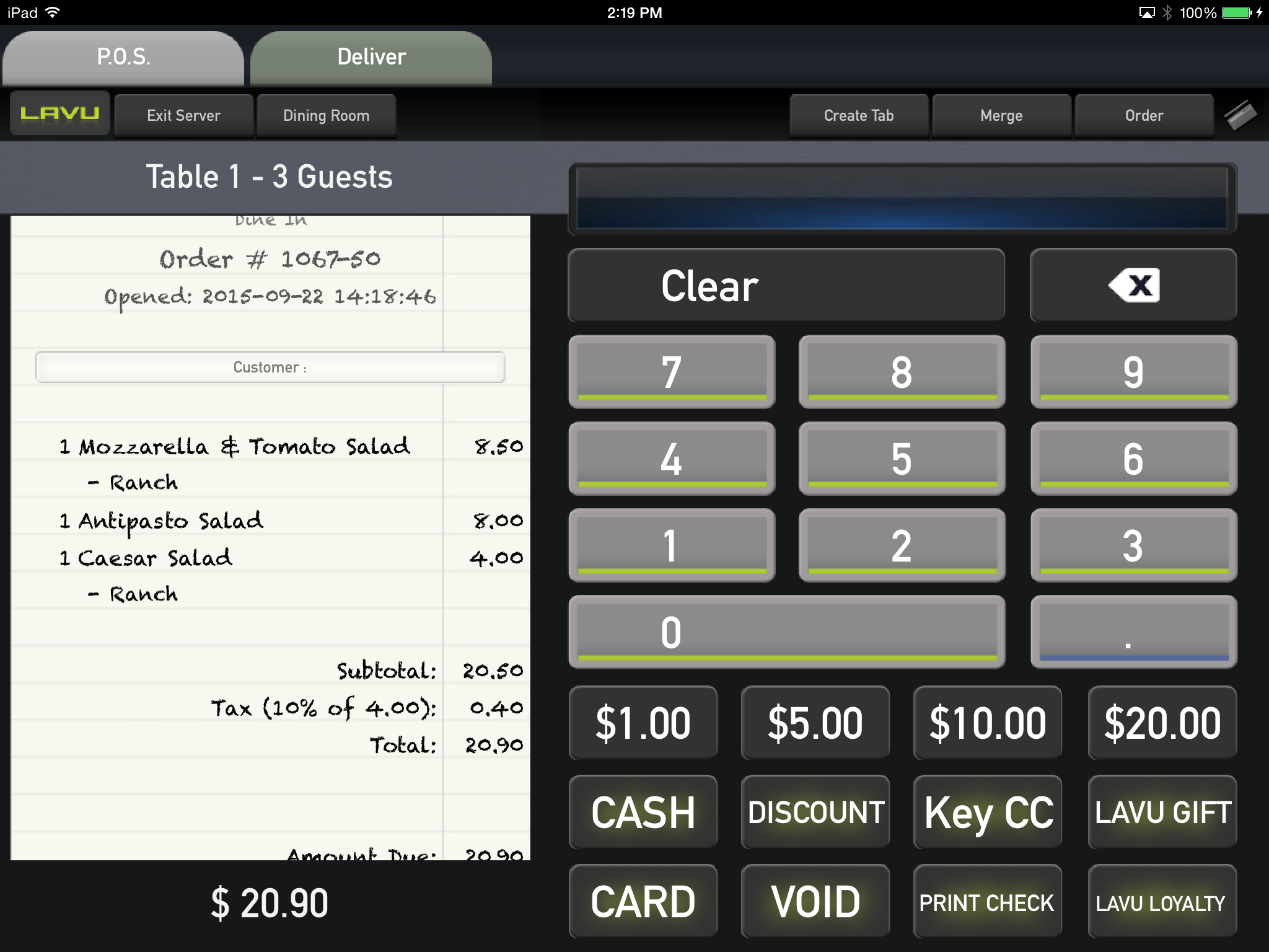 Lavu POS Software - Guest tickets designed for efficiency.