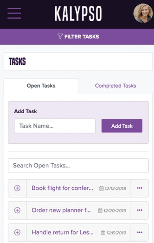 Kalypso filter tasks