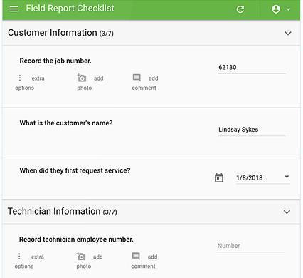 IntouchSurvey checklist