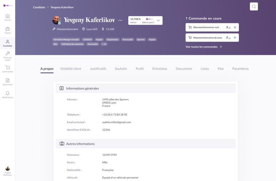 Troops screenshot: Troops candidate profile