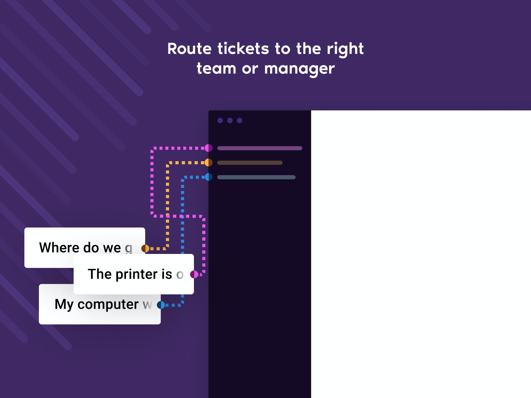 Ticket rules can result in a ticket being routed to a different triage channel based on a specific condition