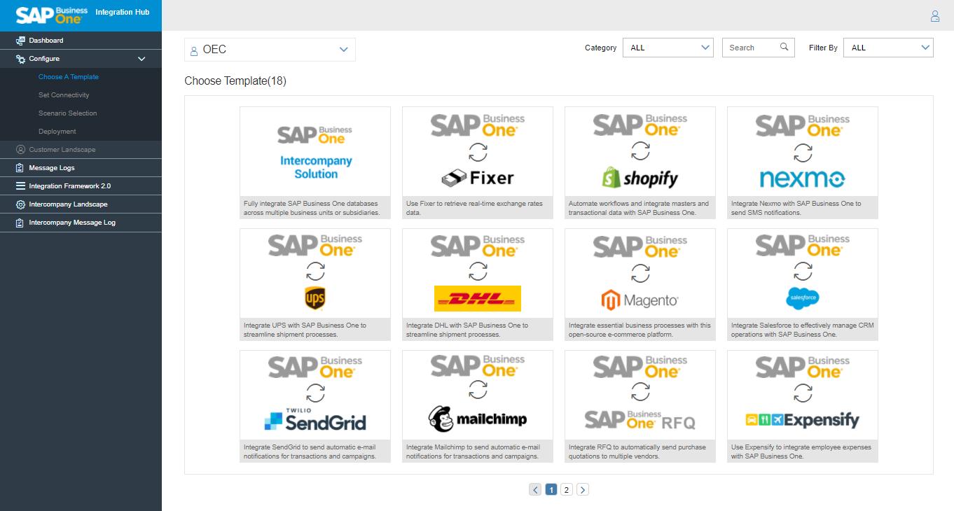Integration Hub filter templates
