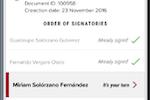 FAD screenshot: FAD real-time signing