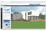 Space Designer 3D screenshot: In-app 3D of a house created on Space Designer 3D