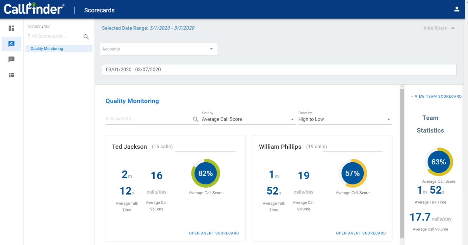 CallFinder Software - CallFinder quality monitoring