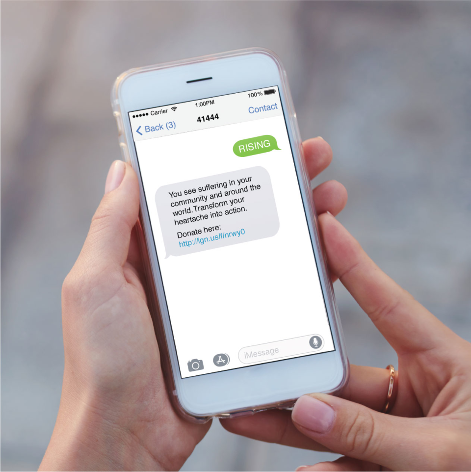 MobileCause text to donate
