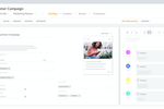 BrandMaker screenshot: Trigger processes from within the marketing plan to execute actions that help you achieve your goals. Collect all briefings and project information centrally, distribute tasks within the team and track the progress of the project.