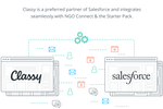 Classy screenshot: Integration options facilitate connection with Salesforce NGO Connect and more third-party apps
