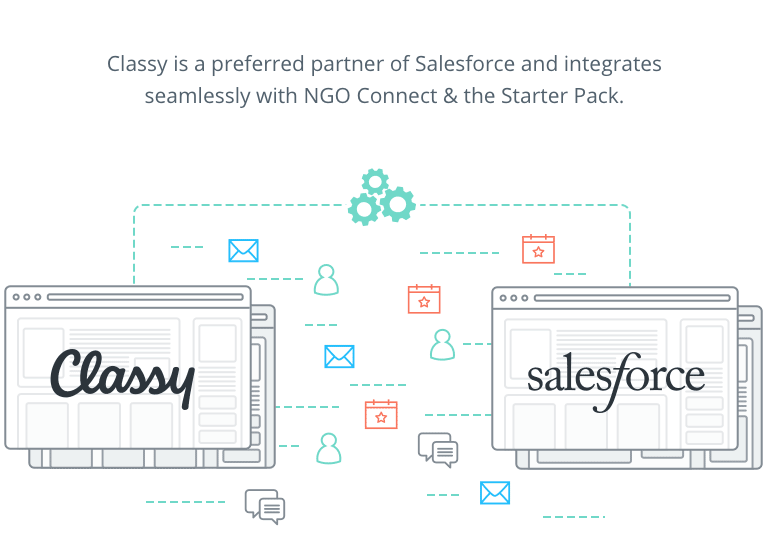 Integration options facilitate connection with Salesforce NGO Connect and more third-party apps