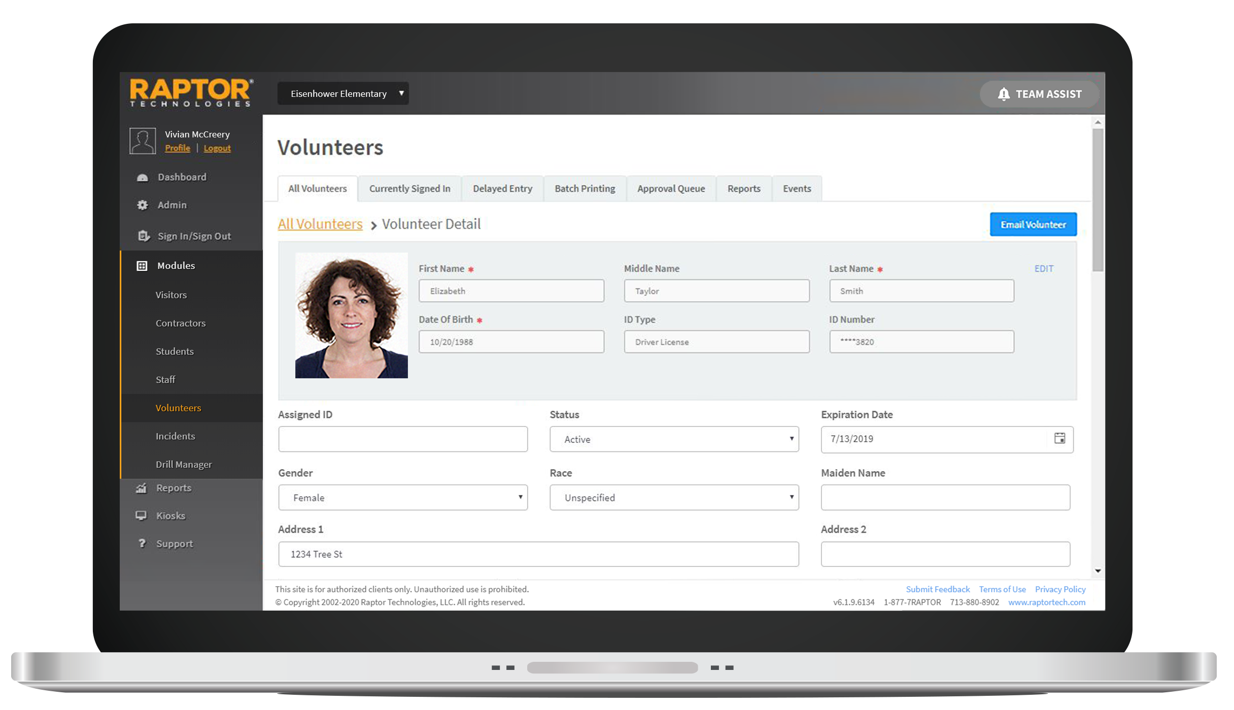 Raptor Volunteer Management Software - User-friendly volunteer management software that includes an integrated online volunteer application, full criminal background checks, volunteer hour tracking, event management, and robust reporting.