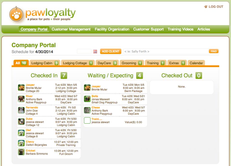 PawLoyalty's Company Portal screen