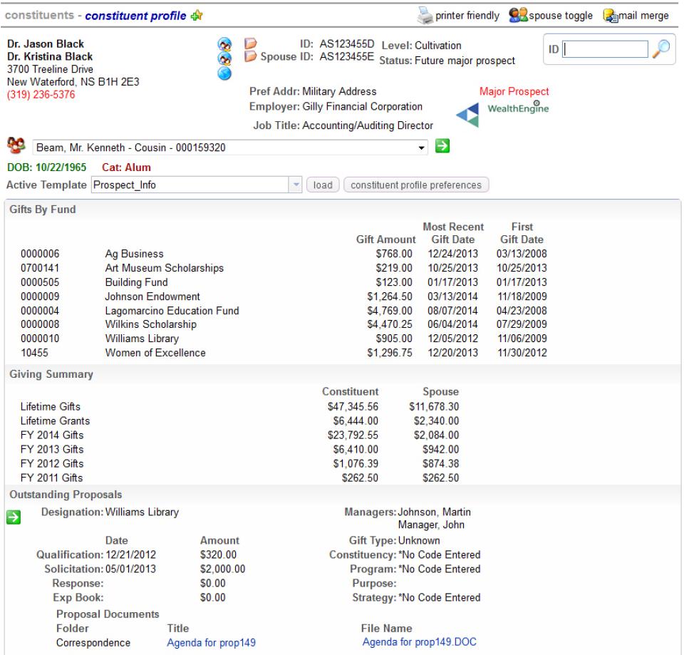 Agilon constituent profile screenshot