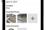 Fulcrumapp.com screenshot: Photos and audio notes can be captured in Fulcrum's forms