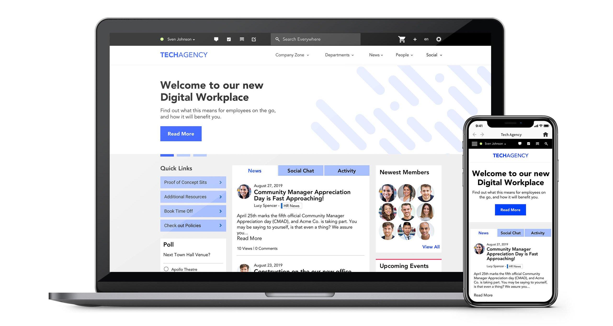 Igloo Website Mockup Tech Agency