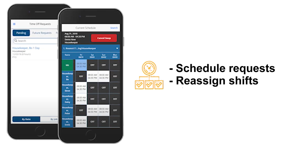 UniFocus Software - UniFocus mobile app allows you to easily reassign shifts