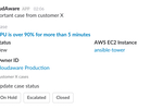 CloudAware screenshot: CloudAware usage analytics