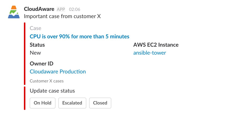 CloudAware usage analytics