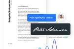 Shape screenshot: Electronic signature functionality allows users to sign contracts conveniently and securely online