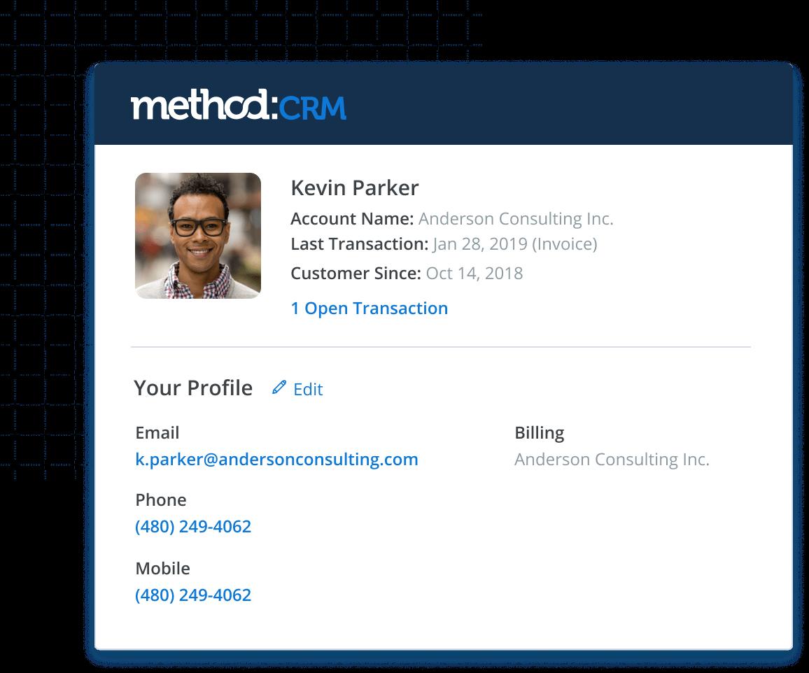 Method:CRM customer profile