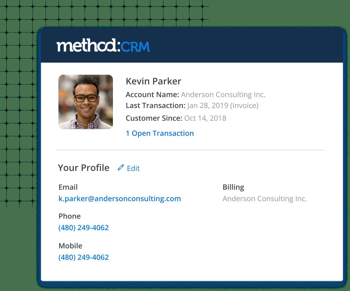 Method CRM Software - Method:CRM customer profile