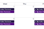 Teachworks screenshot: Personal calendars enable teachers, parents, and students to have online access to the scheduling of their sessions, with updates universally applied across all corresponding accounts