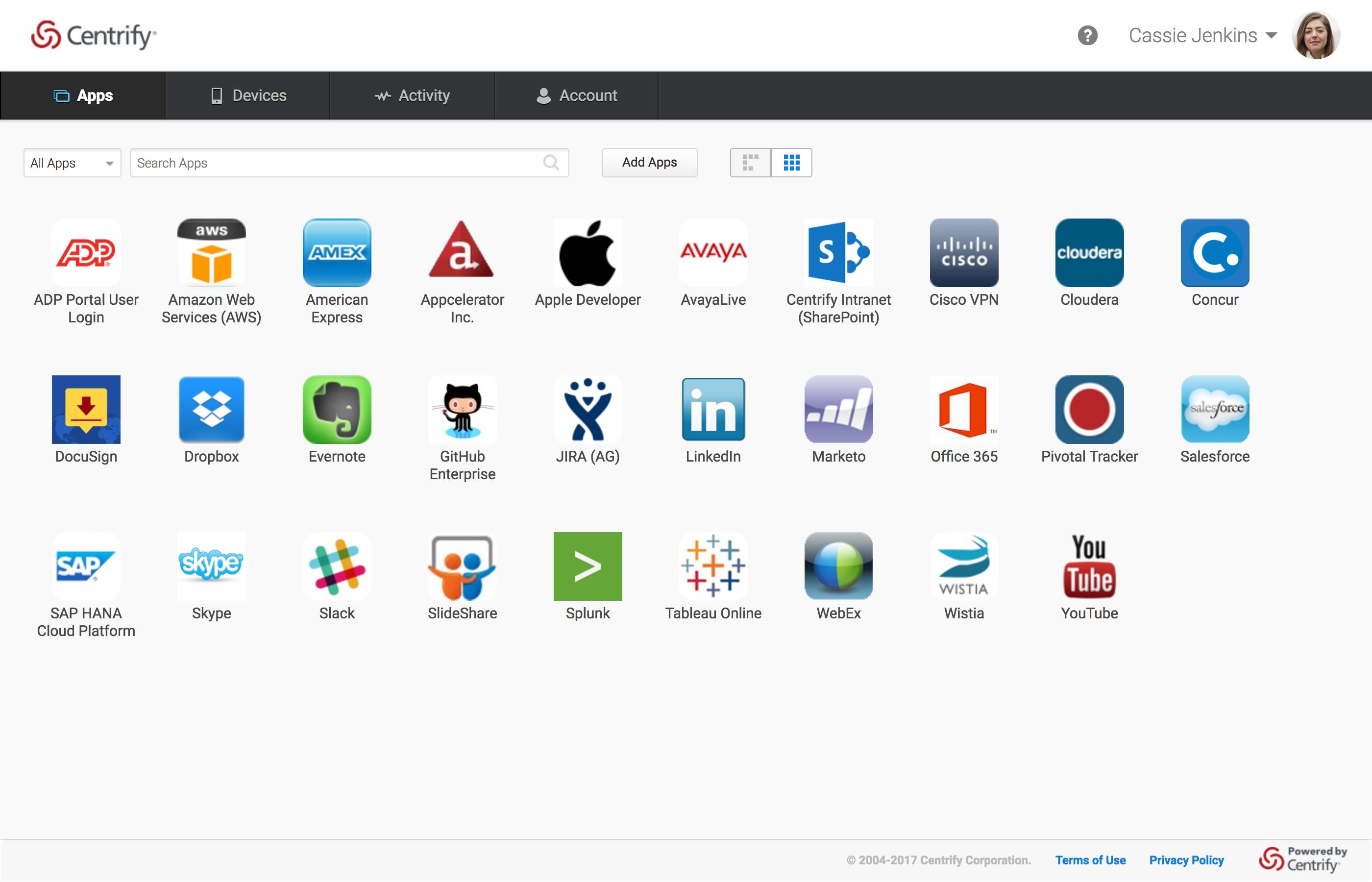 Centrify Application Services - App Portal