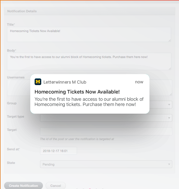 Honeycommb Software - Honeycommb notification settings