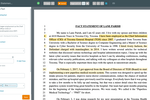 CaseFleet screenshot: Simultaneously create your fact timeline while reviewing relevant documents.