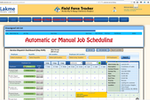 Field Force Tracker screenshot: Jobs can be scheduled manually or automatically by the system