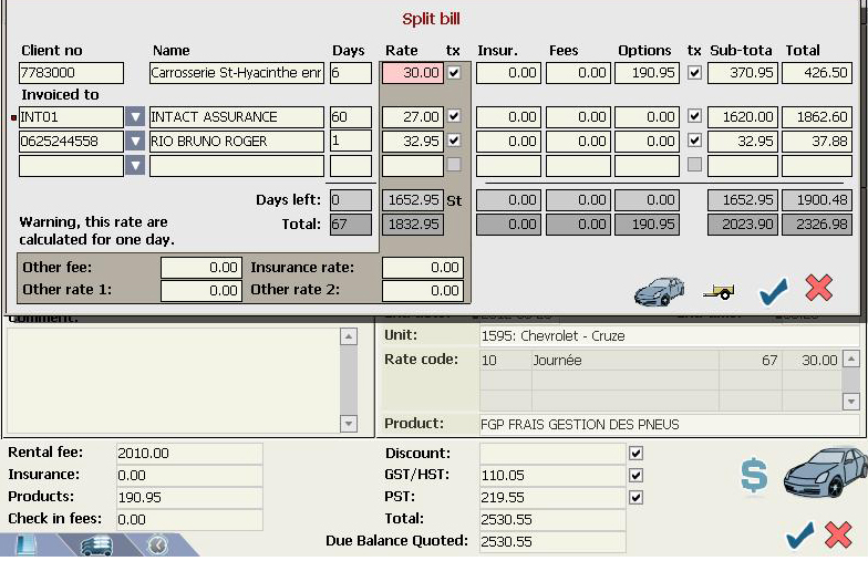 ASAP Rent supports split billing and allows users to create multiple invoices for a single rental agreement