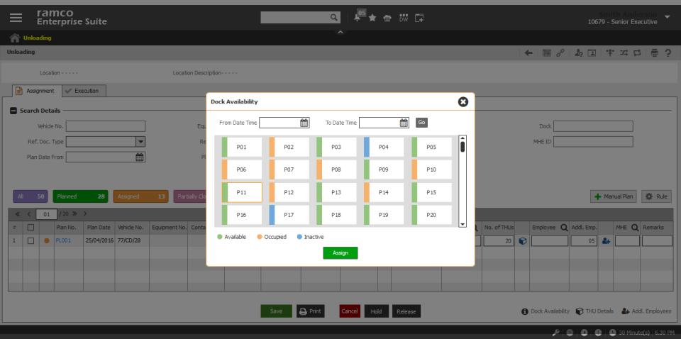 Ramco Logistics Software warehouse management system screenshot