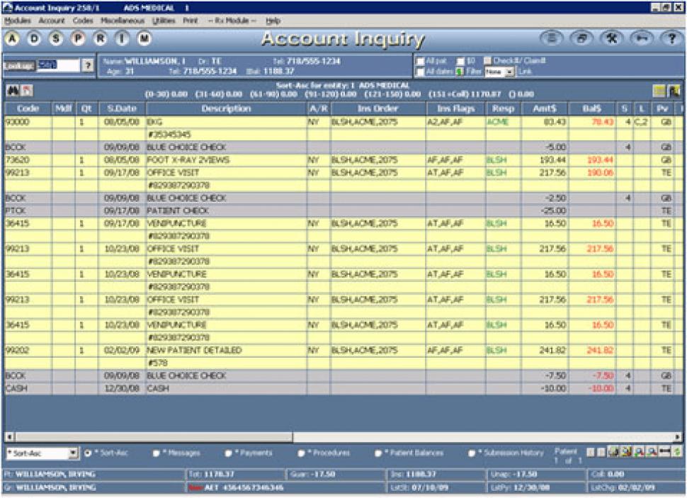 MedicsPremier Software - Financial Ledger
