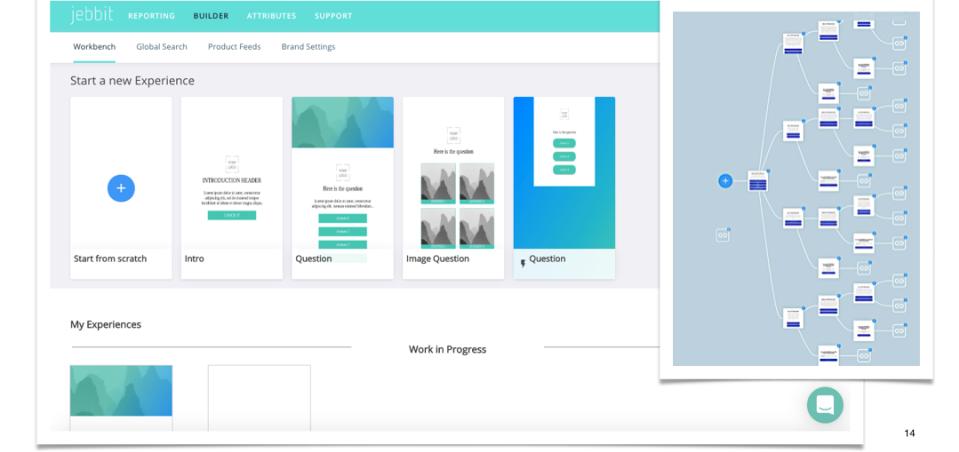 Jebbit screenshot: Jebbit personalized experience builder