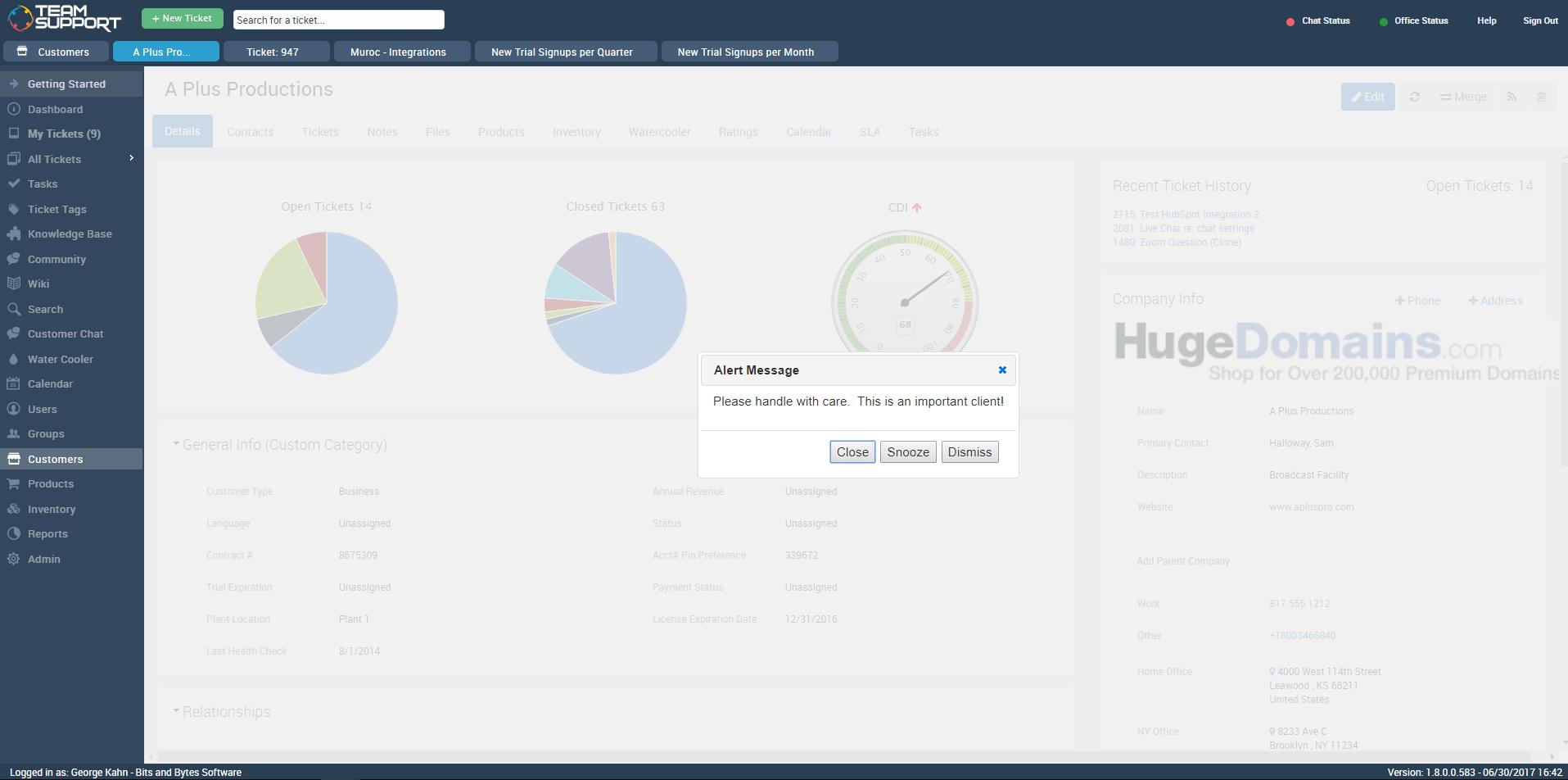 TeamSupport Software - 3