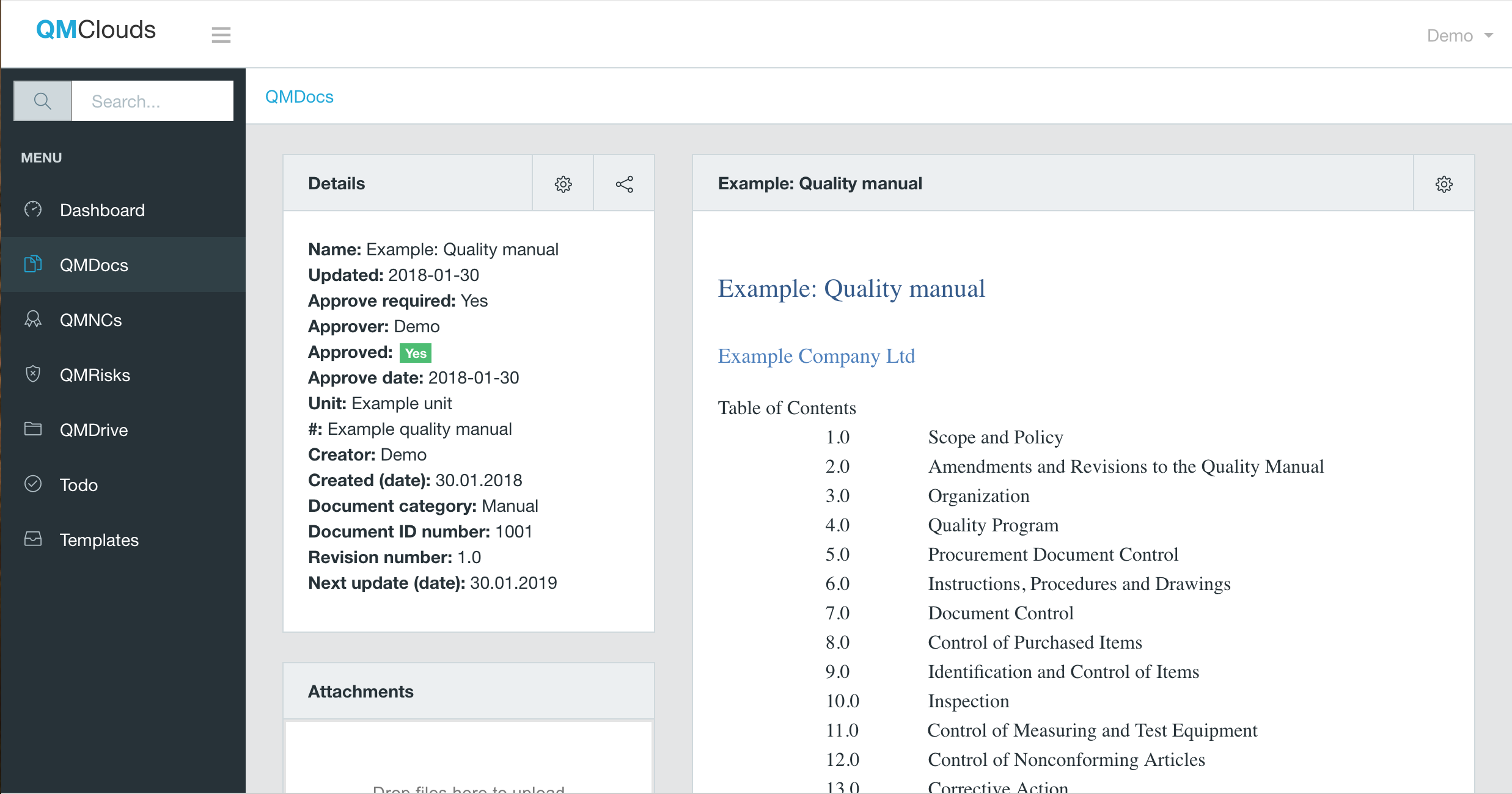 QMClouds Software - Document management