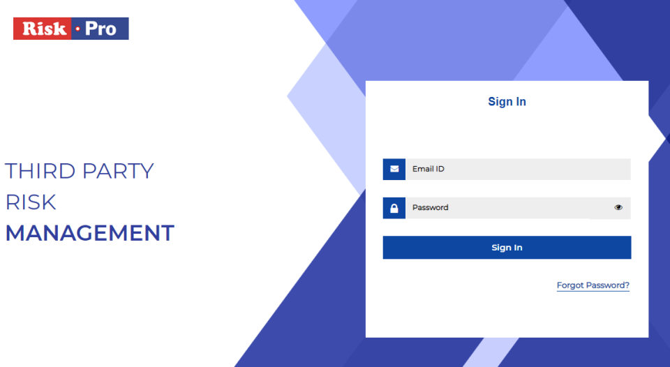 Third Party Risk Management user log in