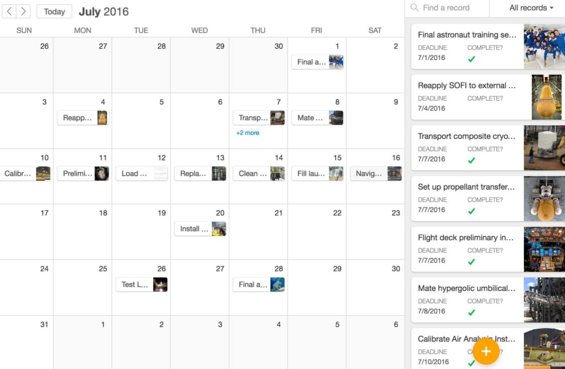 Airtable Software - Airtable calendar view