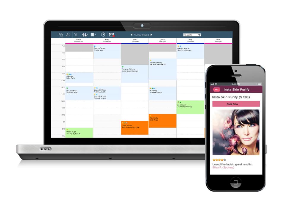 Book online appointments via desktop or mobile application