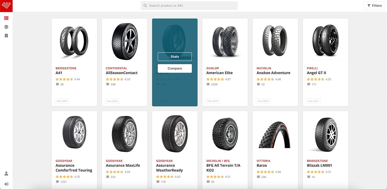 Product selection/comparison