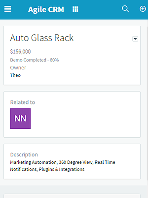 Track deals, move milestones, and check ongoing deals from Agile CRM's mobile app