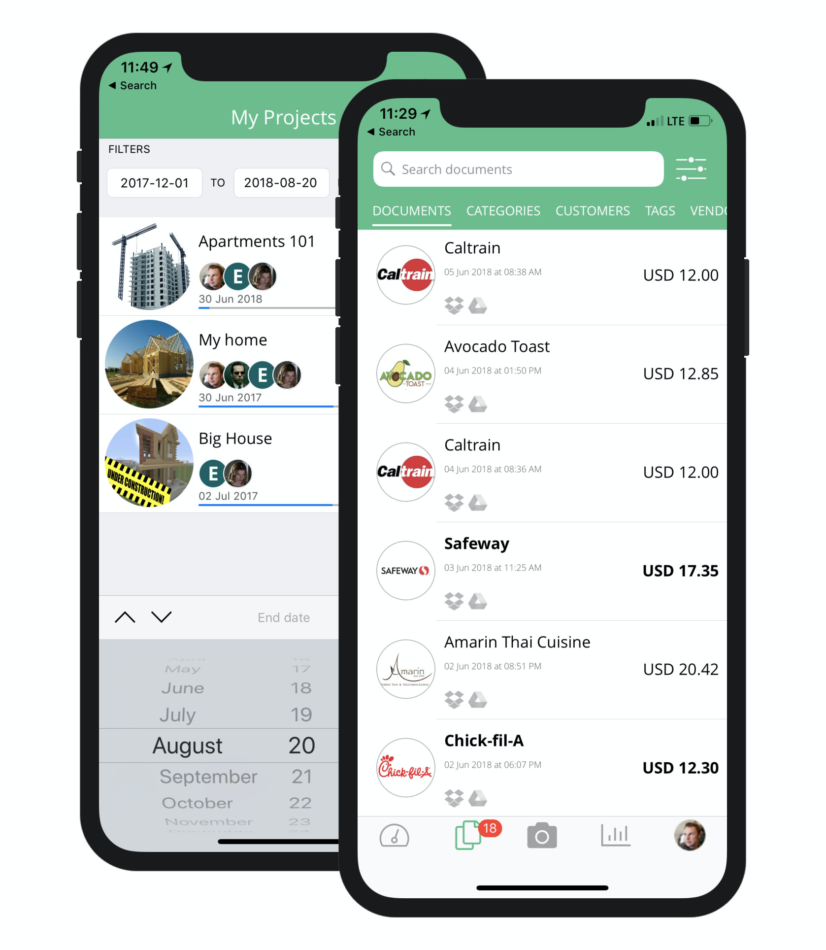 Veryfi Mobile app to manage Expenses, Receipts & Projects available on iPhone & Android.