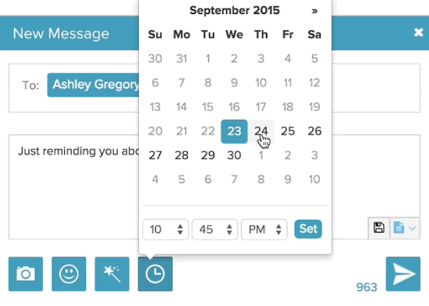 MightyText message scheduling
