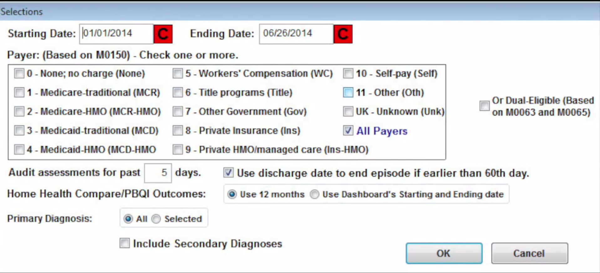 Home Health Gold Software - Entering data